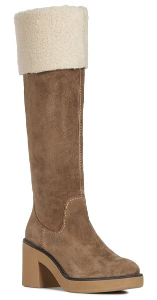 Geox adrya boot in tobacco/ cream suede