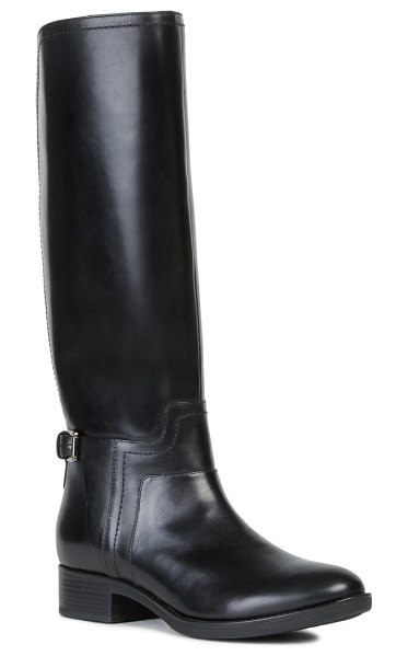 Geox felicity knee high boot in black leather