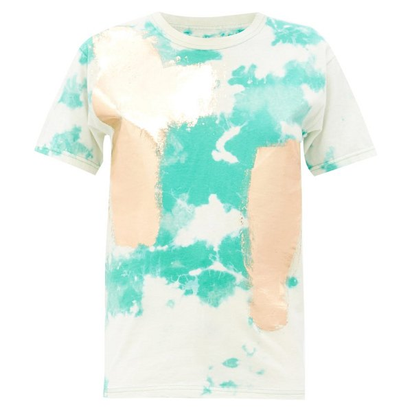 GERMANIER tie-dye upcycled cotton-jersey t-shirt in green multi