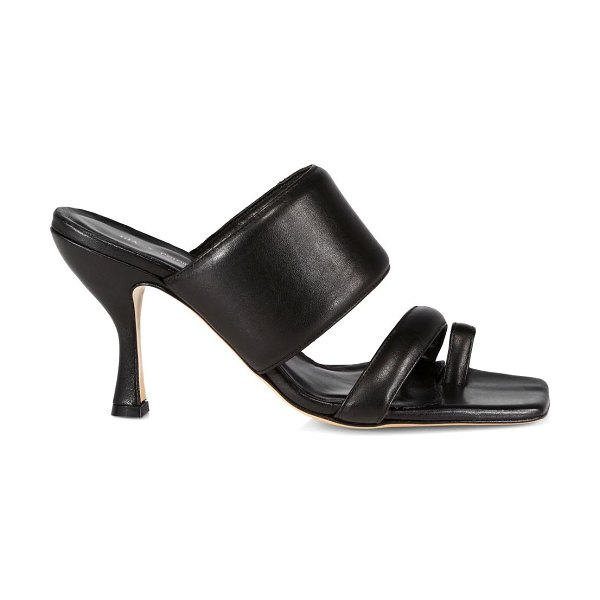 Gia Borghini gia x pernille padded leather mules in black
