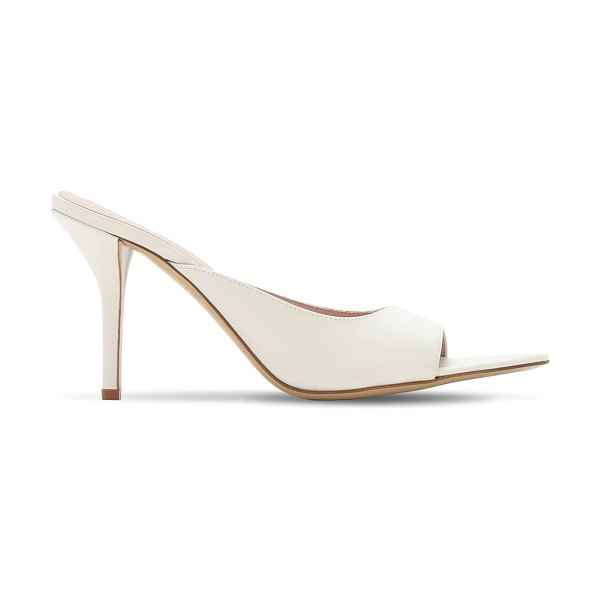 GIA X PERNILLE TEISBAEK 85mm pointed toe leather mules in off-white