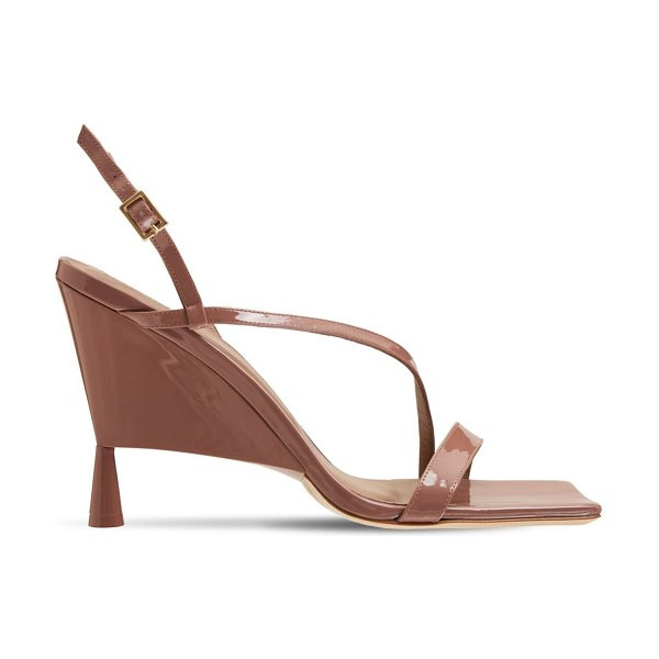 GIA X RHW 100mm rosie 5 patent leather sandals in rose brown