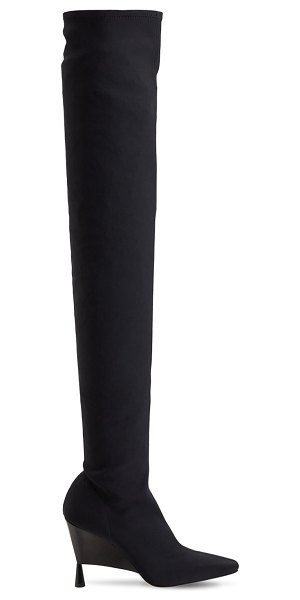 GIA X RHW 100mm rosie 9 stretch over-the-knee boot in black