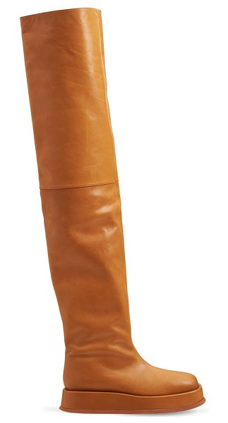 GIA X RHW 40mm rosie 10 faux leather boots in tan