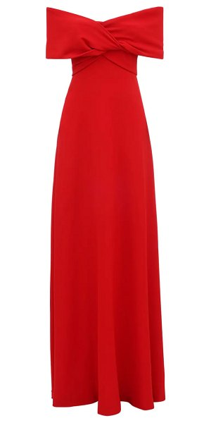 Giambattista Valli Off-the-shoulder crepe long dress in red