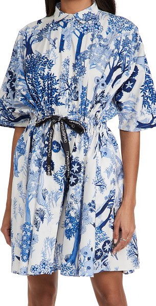 Giambattista Valli trees dress in ivoire/blue