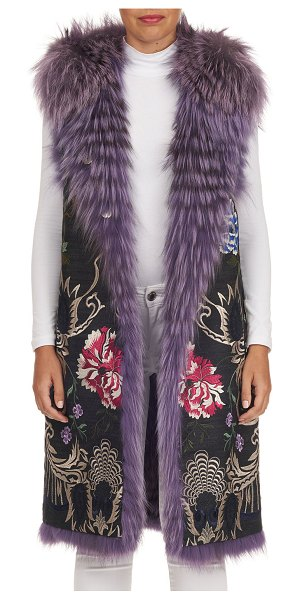 Gianfranco Ferre Reversible Layered Fox-Fur Vest in pink