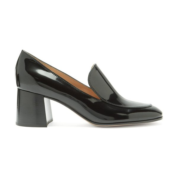 Gianvito Rossi block-heel 60 patent-leather loafers in black