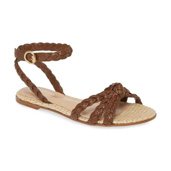 Gianvito Rossi braided sandal in brown