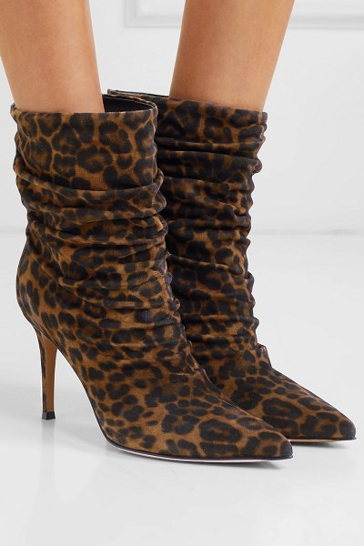 Gianvito Rossi cecile 85 leopard-print suede ankle boots in leopard print
