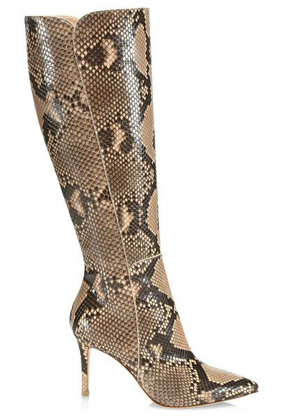 Gianvito Rossi Corrine Knee-High Python Boots in nude