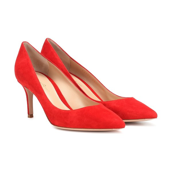 Gianvito Rossi gianvito 70 suede pumps in red - We love the boldly seductive red hue of these suede...