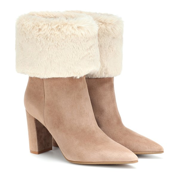 Gianvito Rossi joanne suede ankle boots in beige