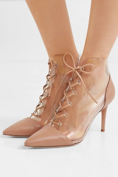 Gianvito Rossi leather and pvc ankle boots in blush - We've said it before, and we'll say it again: glossy...