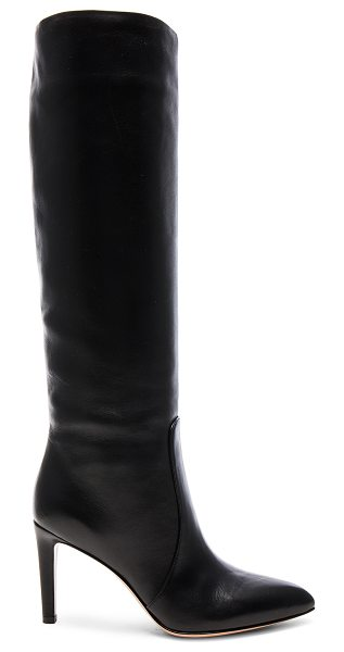 GIANVITO ROSSI Leather Boots - Leather upper and sole.  Made in Italy.  Shaft measures...