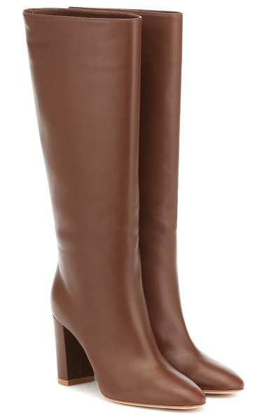 Gianvito Rossi leather knee-high boots in brown