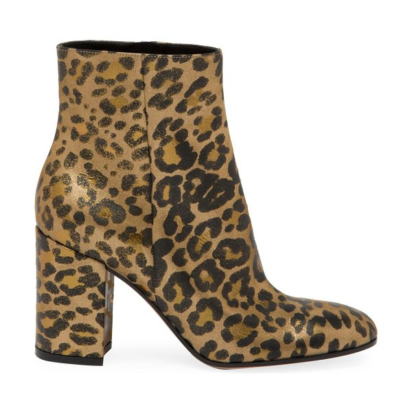 Gianvito Rossi leopard-print leather ankle boots in leopard