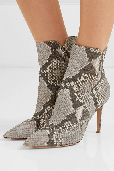 Gianvito Rossi levy 85 python ankle boots in snake print
