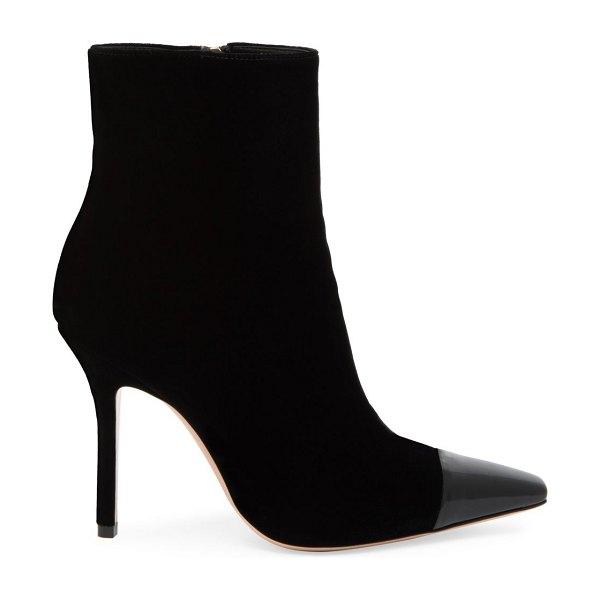 Gianvito Rossi lucy cap-toe velvet ankle boots in black