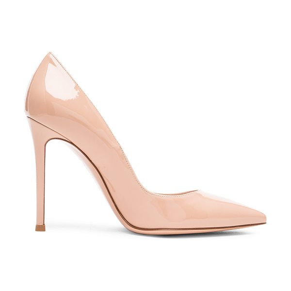 Gianvito Rossi Patent Leather Gianvito Pumps in nude - Patent leather upper with leather sole.  Made in Italy. ...