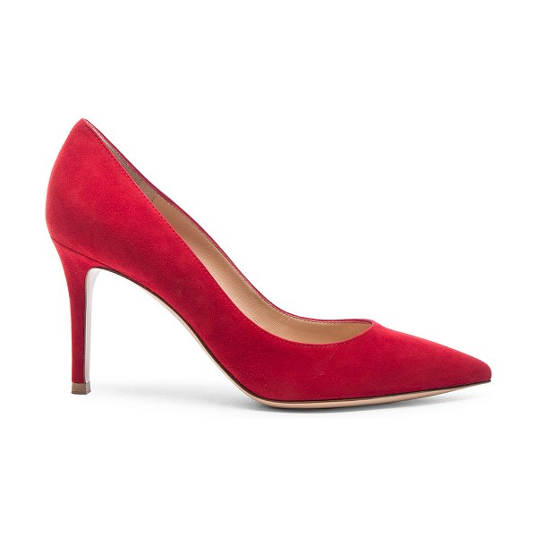 Gianvito Rossi Suede Gianvito Pumps in red - Suede upper with leather sole.  Made in Italy.  Approx...