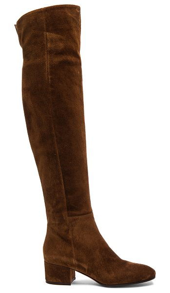 GIANVITO ROSSI Suede Over The Knee Boots - Suede upper with leather sole.  Made in Italy.  Shaft...