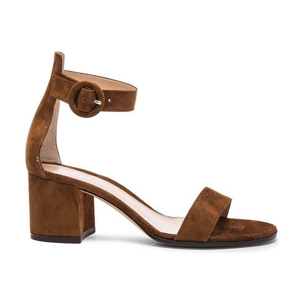 Gianvito Rossi Suede Sandals in brown - Suede upper with leather sole.  Made in Italy.  Approx...