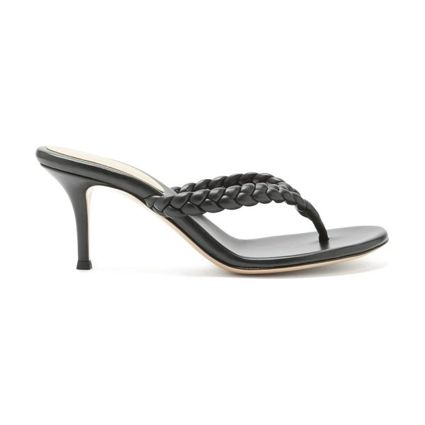 Gianvito Rossi tropea 70 braided leather sandals in black