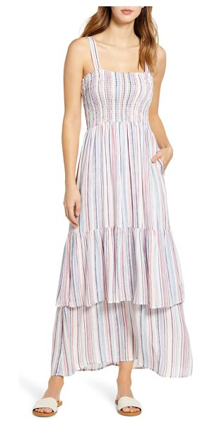 Gibson x the motherchic laguna smocked maxi sundress in normandie stripe