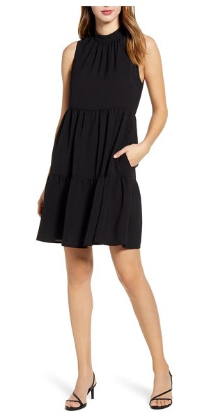 Gibson x the motherchic lakeshore tiered dress in black