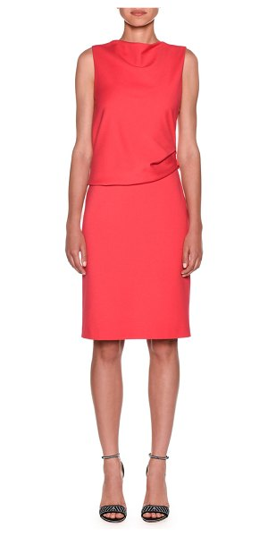 Giorgio Armani Milano Jersey Sleeveless Popover Dress in pink