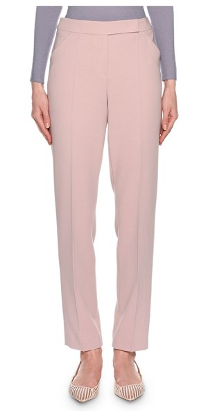 Giorgio Armani Straight Leg Wool-Crepe Pants in pink