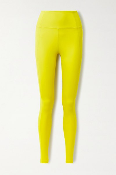 GIRLFRIEND COLLECTIVE + net sustain compressive recycled stretch leggings in yellow
