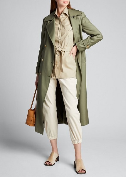 GIULIVA HERITAGE COLLECTION Safari Belted Shirt in sand