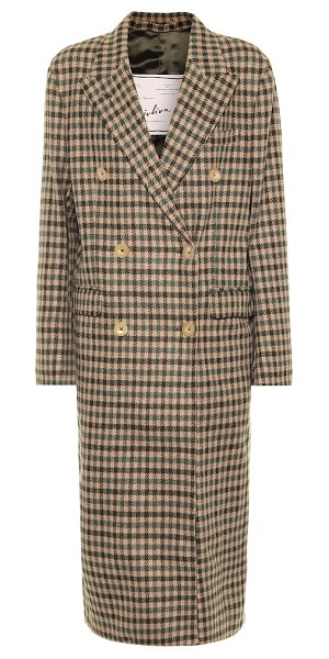 GIULIVA HERITAGE COLLECTION the cindy check wool coat in brown