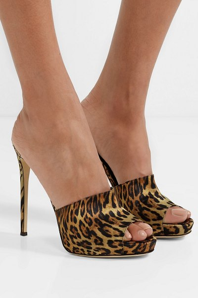 Giuseppe Zanotti leopard-print satin mules in leopard print - From zebra to tiger and everything in between, animal...