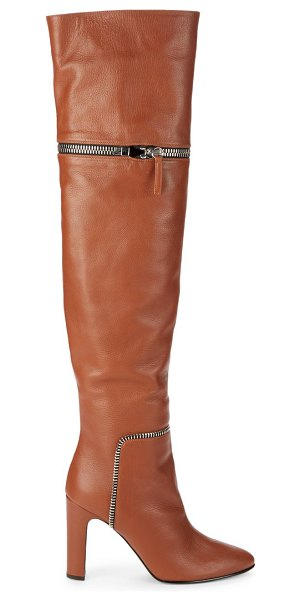 Giuseppe Zanotti Zip-Off Over-the-Knee Leather Boots in tan