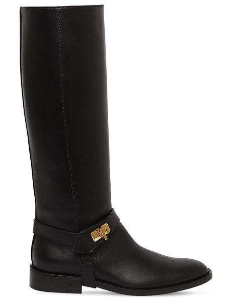 Givenchy 20mm eden leather tall boots in black