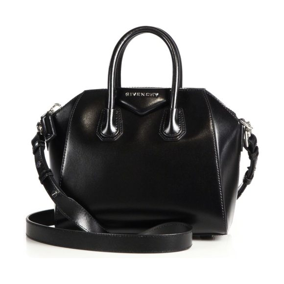 Givenchy mini antigona leather satchel in black