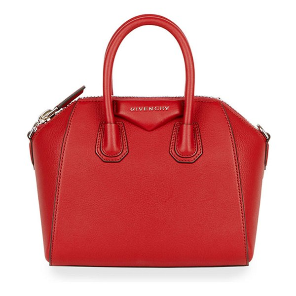 Givenchy Antigona Mini Leather Satchel Bag in red/pink