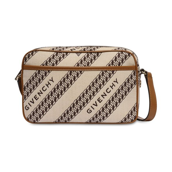 Givenchy Bond cotton canvas jacquard camera bag in beige