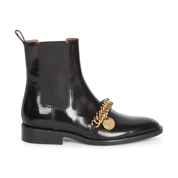Givenchy chain leather chelsea boots in black