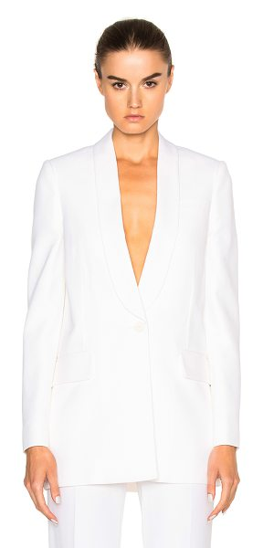 GIVENCHY Crepe Satin Blazer in white -  - Self: 83% viscose 17% wool - Lining: 100% viscose. ...