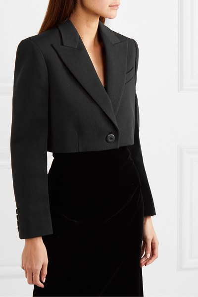 Givenchy cropped wool and silk-blend twill blazer in black