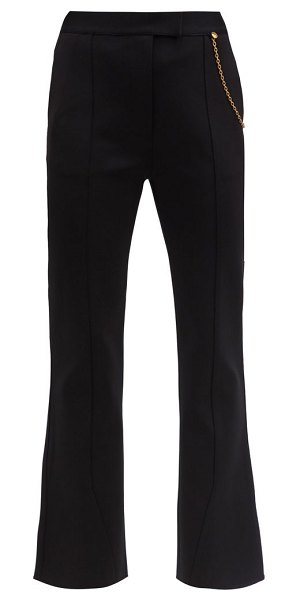 Givenchy draped-chain kick-flare tailored trousers in black