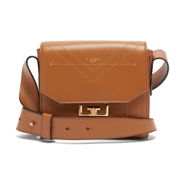 Givenchy eden small leather shoulder bag in brown