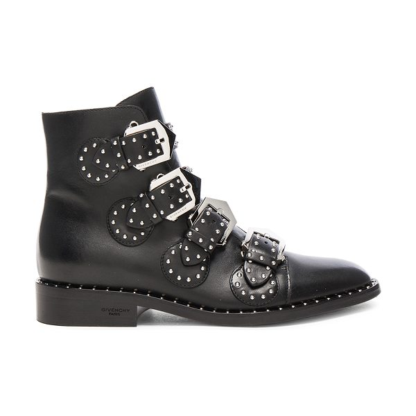 Givenchy Elegant Studded Leather Ankle Boots in black - Leather upper and sole.  Made in Italy.  Shaft measures...