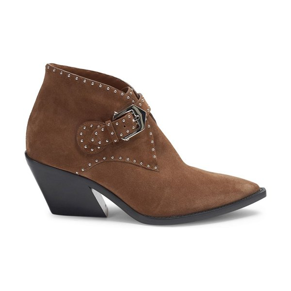 Givenchy Elegant Studded Western Booties in havanna