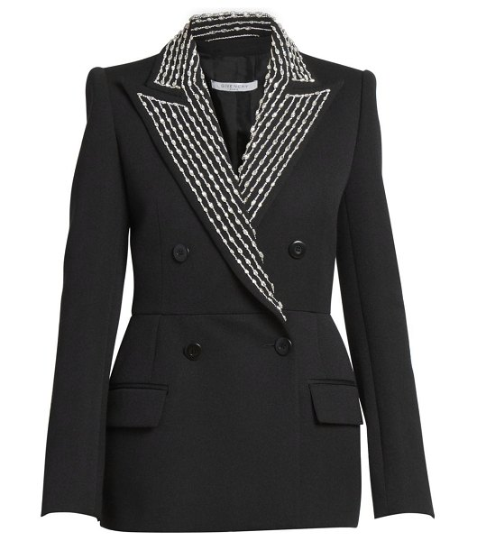 Givenchy embellished couture tailored wool-blend jacket in black