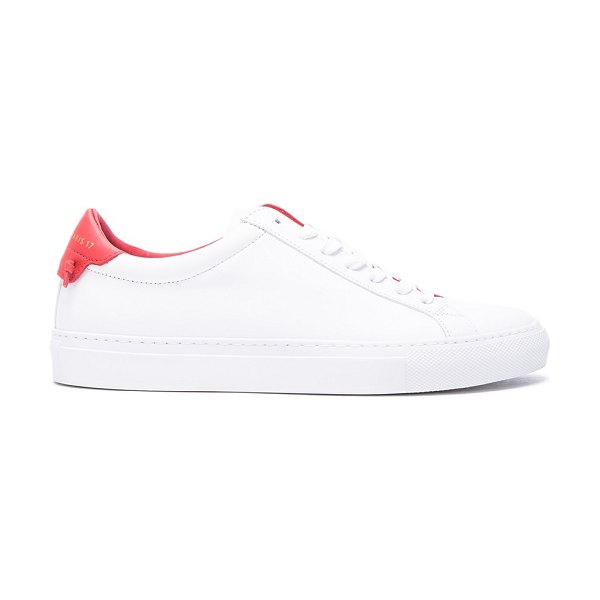 GIVENCHY Knots Leather Low Sneakers - Calfskin leather upper with rubber sole.  Made in Italy....